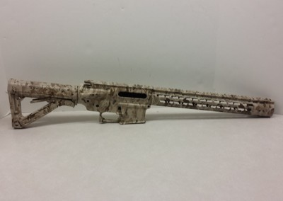 Airsoft M4 frame in Devgru 2 with a matte finish