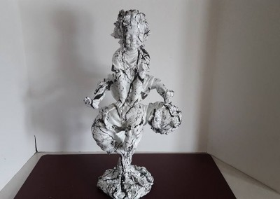 Old plastic statue made into new marble!